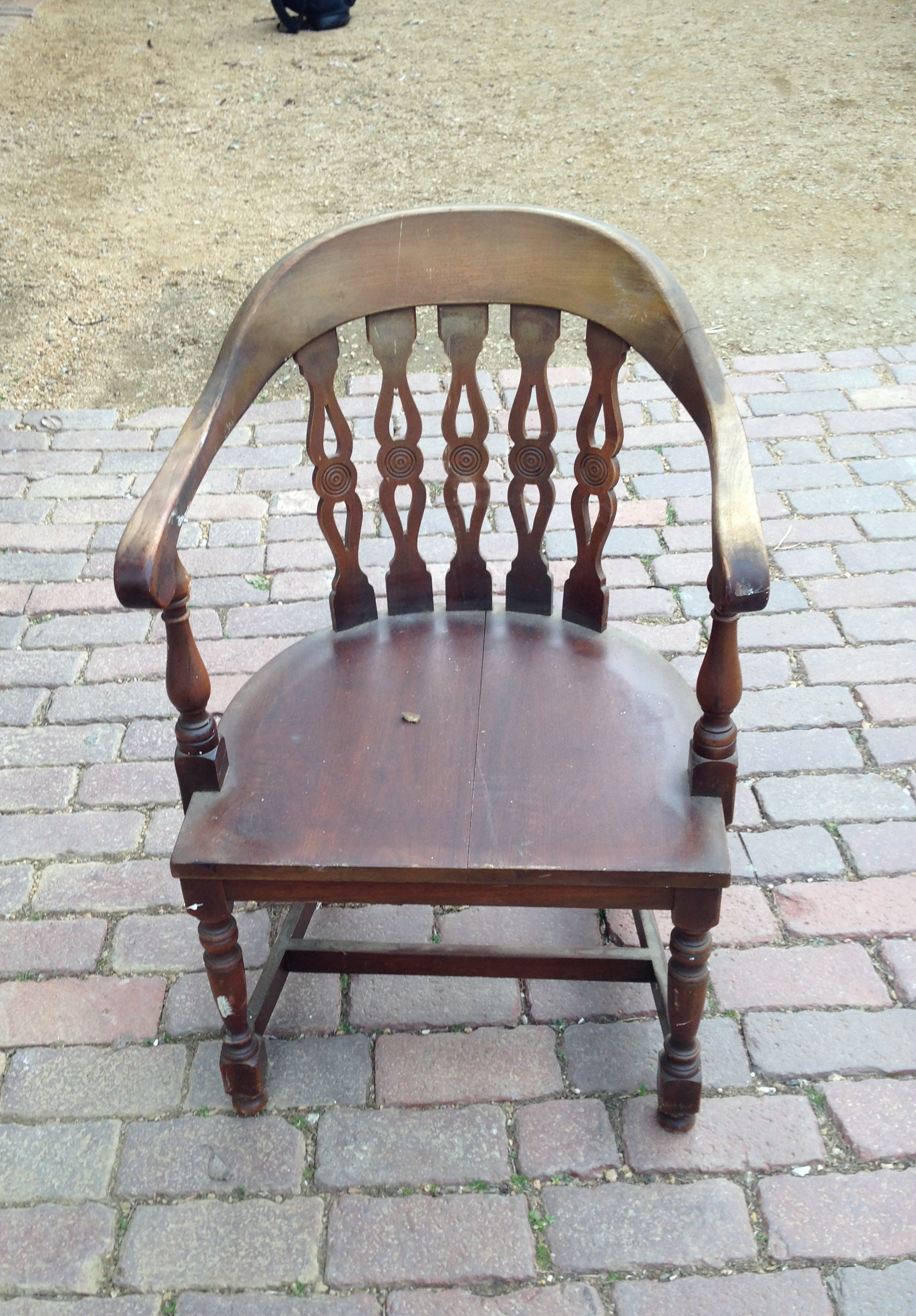 One of a pair of vintage Kittinger arm chairs
